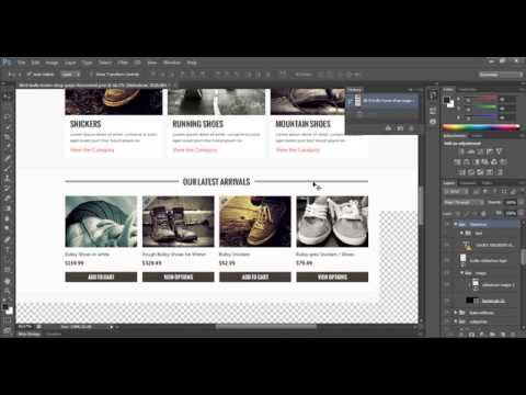 How To Cut Images From Psd File In Photoshop