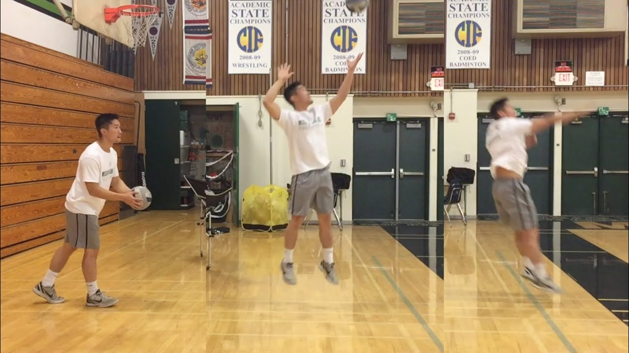 Jump Float Serve How To Serve A Volleyball Tutorial Part 2 3 Youtube