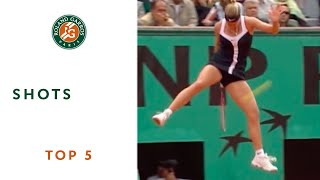 Top 5 moments at Roland Garros - Great shots
