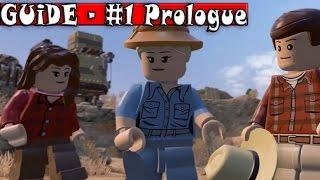 LEGO Jurassic World - 100% Guide - #1 Prologue - All Collectibles (Minikits & Amber Bricks) [HD]