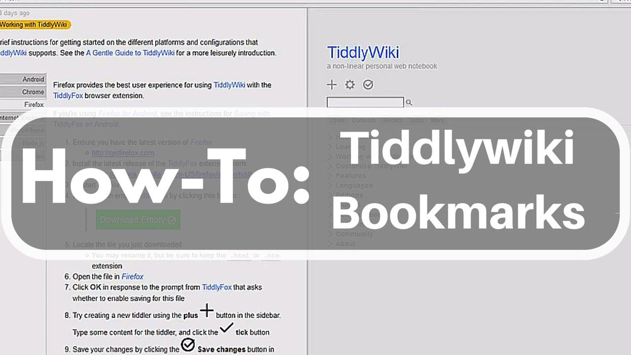 Tiddlywiki Bookmarks