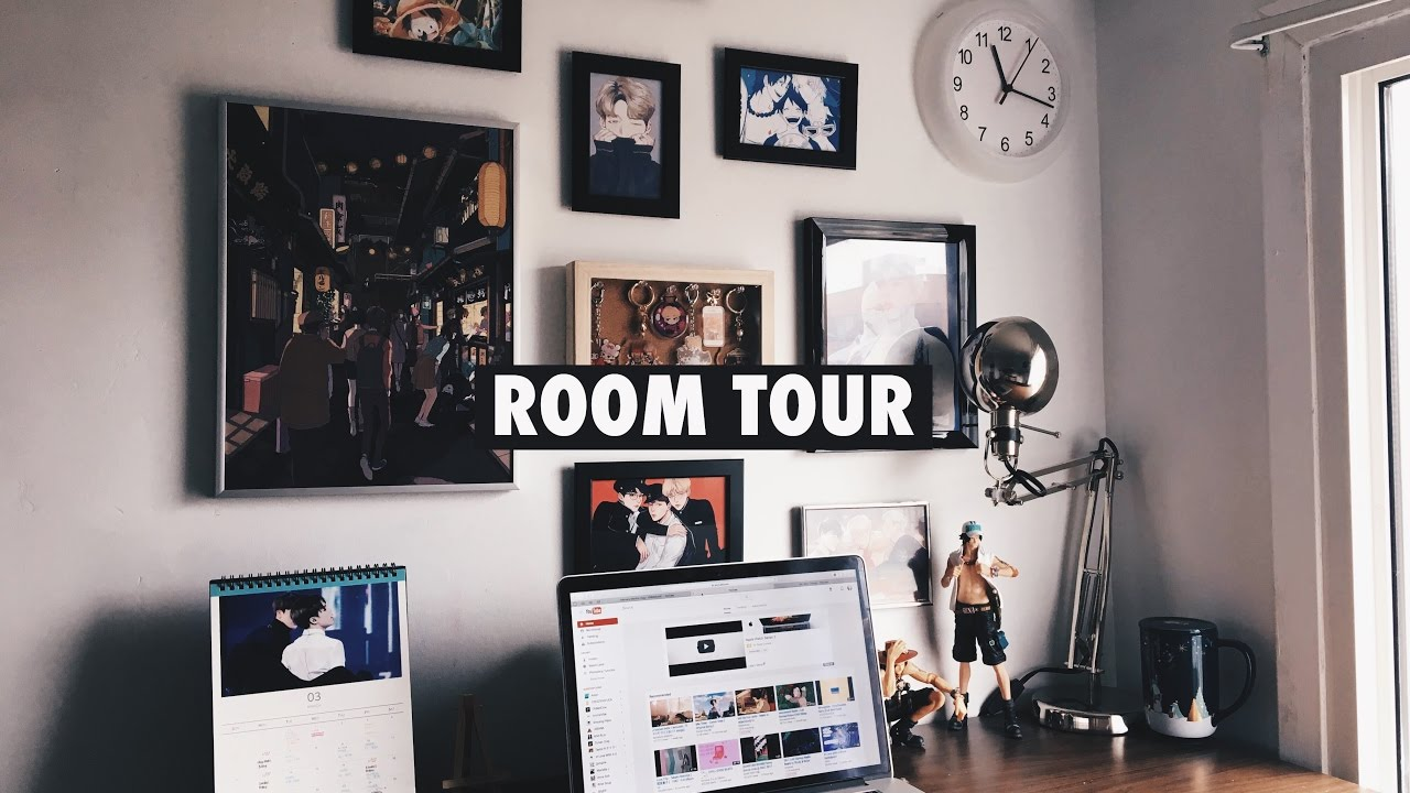 BTS/Anime Room Tour (A.R.M.Y/Otaku Edition) - YouTube on Room Decor Bts id=19414