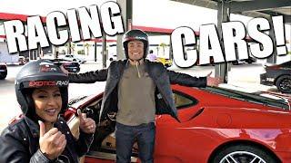 Vegas Day 2: Racing Cars at Exotics Racing!