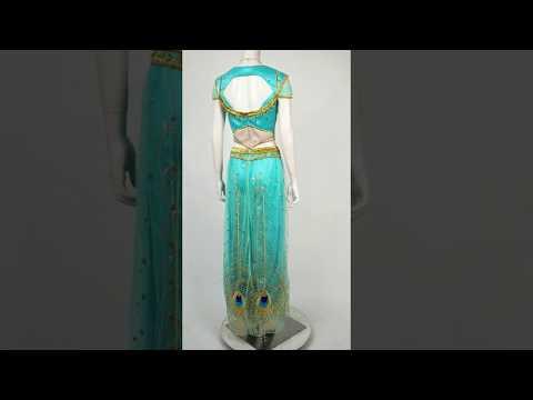 Princess Jasmine Dress Costume Cosplay Aladdin - 동영상