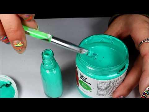 how i got my liquid latex in a polish bottle easier application
