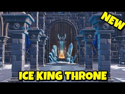 NEW ICE KING THRONE - POLAR PEAK MAP UPDATE IN FORTNITE