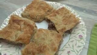 Пирог из слоеного теста с картофелем и мясом! Купили Холодильник LG! На ужин