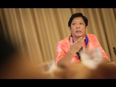 Sen. Bongbong Marcos - Press conference : Zamboanga