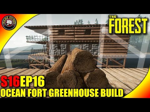 The Forest Gameplay - Greenhouse, Shark Mount, Base Build - S16EP16 (Alpha V0.35)