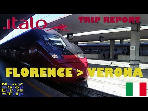 NTV ITALO / FLORENCE TO VERONA / 1ST CLASS / ITALIAN TRAIN T