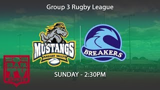 2018 Group 3 Rugby League - Round 5 - Macleay Valley Mustangs v Port City Breakers