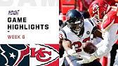 Texans vs. Chiefs Week 6 Highlights | NFL 2019