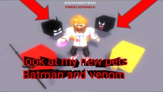 Roblox cookie simulator part 23:look at my new pets batman and venom