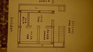24 × 26 East face house plan