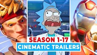 Every FORTNITE TRAILER (Season 1-17) New Invasion Cinematc Trailer