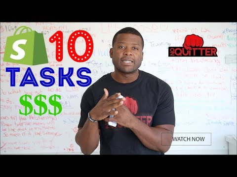 Shopify - 10 TASKS You Should Outsource To Make More Money