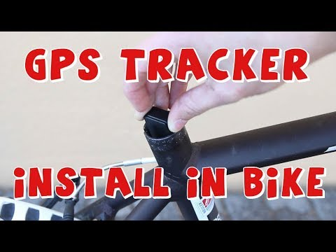 How to install GPS Tracker in bicycle. Anti theft for bikes!