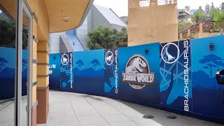 Universal Studios Hollywood New Ride Announcement and Construction Update / Jurassic World Progress