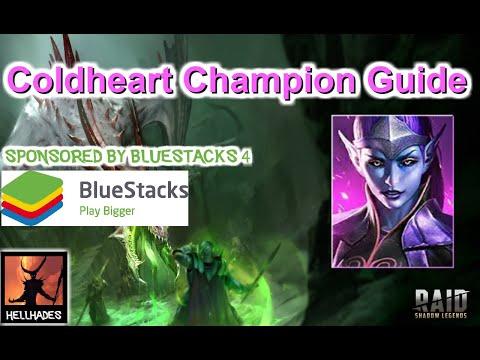 RAID: Shadow Legends   Coldheart Champion Guide - Best Single Target Damage in RAID   Bluestacks 4