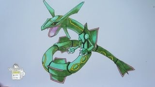 How to draw Pokemon: No. 383 Rayquaza