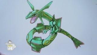How to draw Pokemon: No. 383 Rayquaza