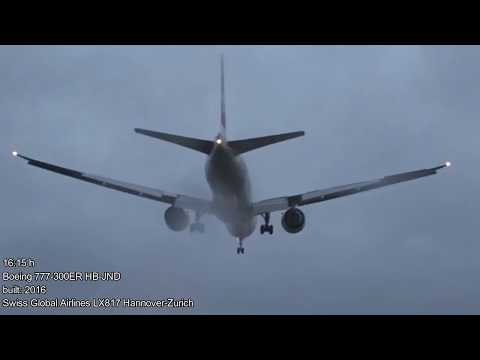 "Windy day for planespotting at Zurich Airport (ZRH/LSZH) during storm ""Burglind"" with live ATC"