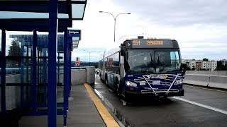 "Sound Transit 2014 New Flyer XD60 ""Xcelsior"" Artic 9814 On The 554 @ Eastgate Freeway Station"