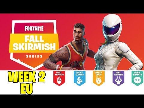 Fortnite Fall Skirmish EU Week 2 Games 1-4