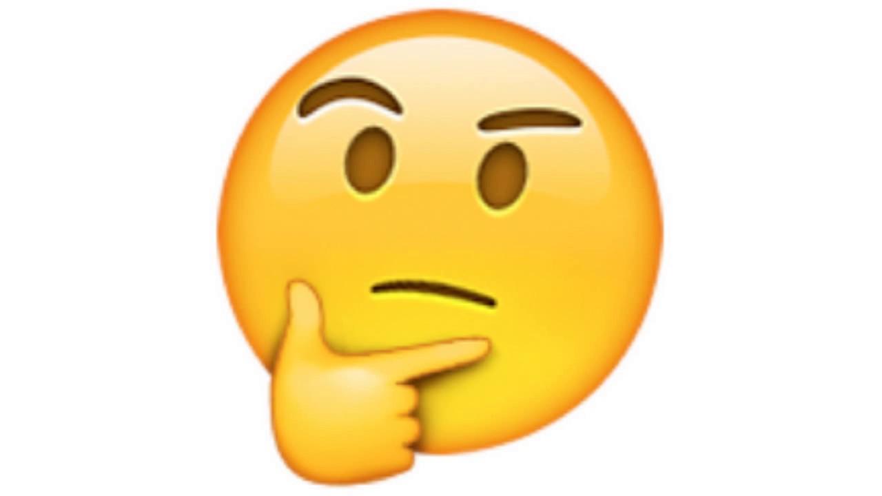 the thinking face emoji
