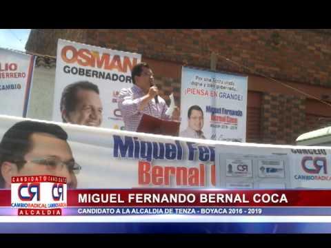 DISCURSO PLAZA PUBLICA DOCTOR MIGUEL FERNANDO BERNAL COCA SABADO 3 DE OCTUBRE DEL 2015