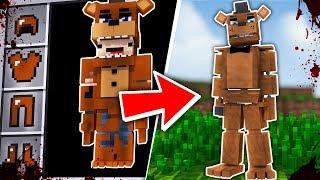 HOW TO BECOME FREDDY FAZBEAR FROM FIVE NIGHTS AT FREDDY'S - Minecraft FNAF