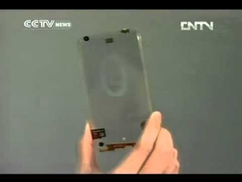 Taiwan unveils transparent mobile phone