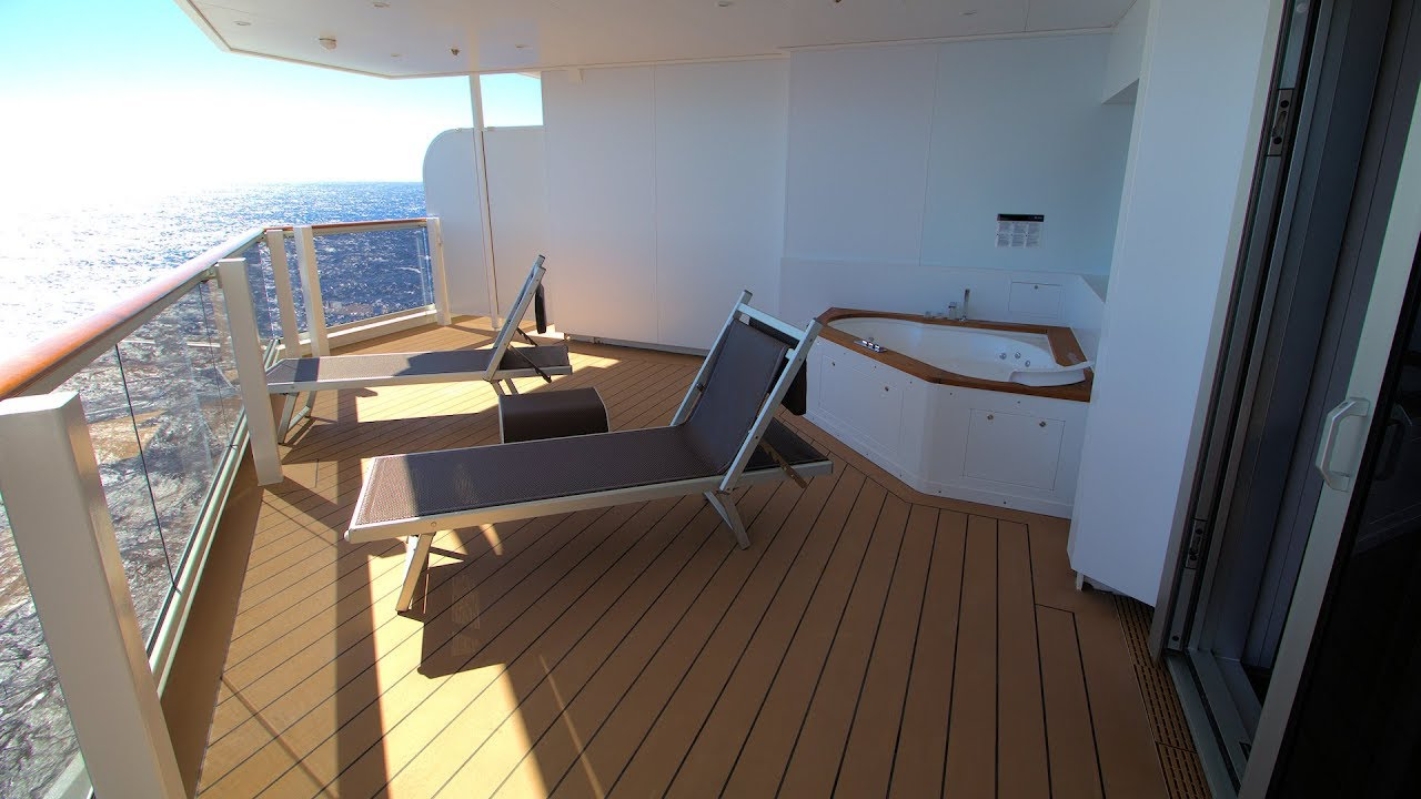 The Best Suite On Miami S Newest Cruise Ship Msc Seaside