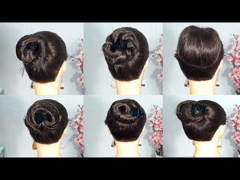 6 New Hairstyle using 1 clutcher || hairstyles for girls || hair style girl || easy hairstyles thumbnail