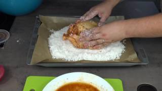 канал вкусного настроения курица под коркой из соли chicken in salt crust