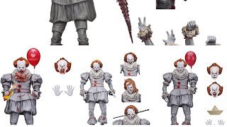 My thoughts on all the Neca toys IT movie 2017 pennywise the clown ultimates