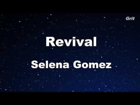 Revival - Selena Gomez Karaoke【With Guide Melody】