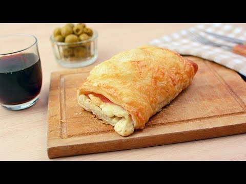 Ham & Cheese Croissants - Easy Ham & Cheese Puff Pastry Croissant Recipe
