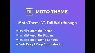 Moto Theme V3 Full Walk-through
