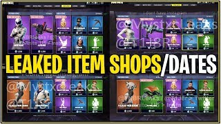 *NEW* Fortnite: LEAKED ITEM SHOP/DATES OF LEAKED SKINS RELEASING! | (Sushi,Panda, and More!)