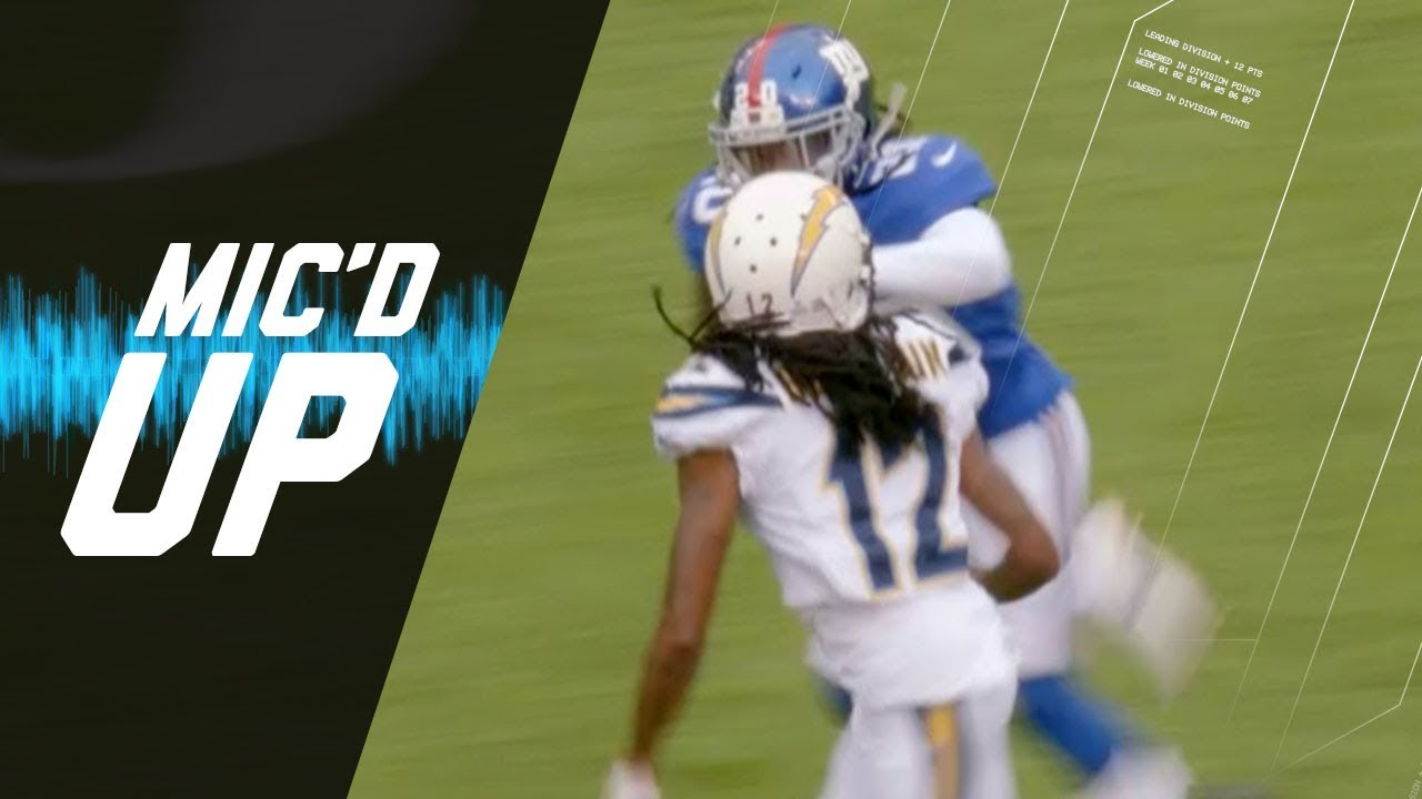 Janoris Jenkins Mic'd Up Battling High School Rival Travis Benjamin (Week 5) | NFL Sound FX