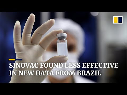 Brazil study shows China's Sinovac vaccine less effective than earlier data on the Covid-19 shots