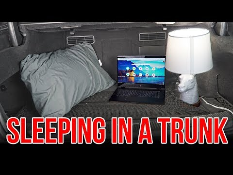 The correct way to sleep in a car trunk