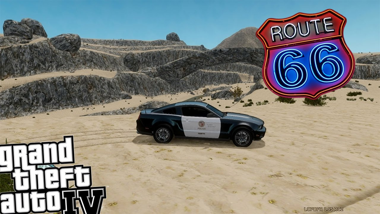 gta iv lcpdfr route 66 police patrol day 2 new mustang. Black Bedroom Furniture Sets. Home Design Ideas