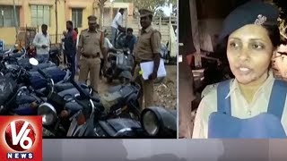 Medak District Police Conducts Cordon And Search Operation, Seizes 37 Vehicles | V6 News