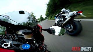 Honda SUPERBIKE Motorcycle WHEELIES Madness on PUBLIC ROADS in ITALY Costo MaxWrist SAVAGE MODE 1000