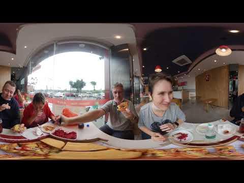 Китай после эпидемии. Спортивно-гастрономический день с друзьями в Гуанчжоу. Video 360