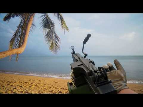 M249 SAW Animations: Reload, Deploy, Fire. 60 Fps