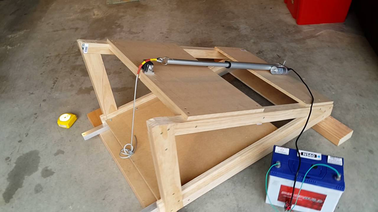 Diy Hinged Projector Lift Youtube