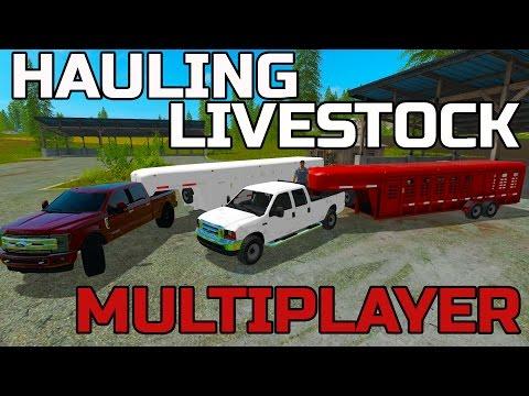 FARMING SIMULATOR 2017 | HAULING LIVESTOCK | MULTIPLAYER | F-350